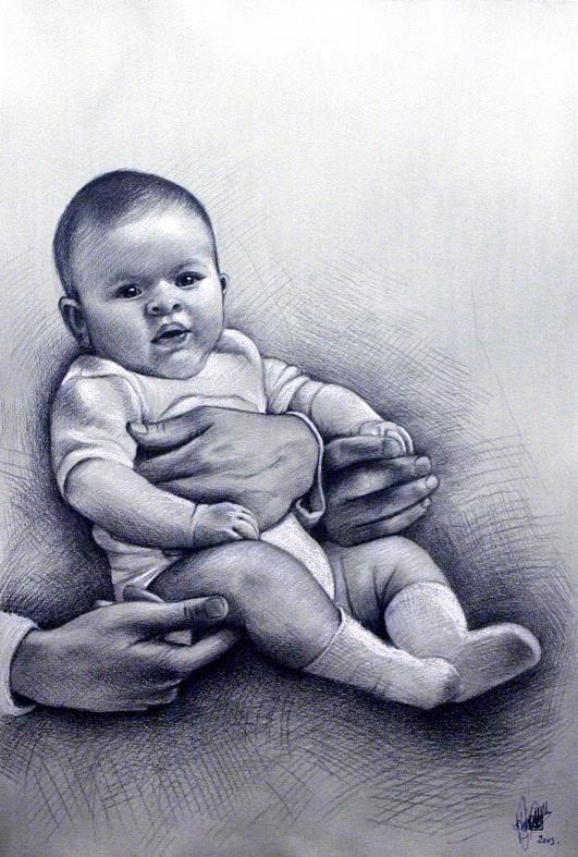 Amato i ritratti di bambini | Bassorilievi - Quadri ad olio - Affreschi  JK37