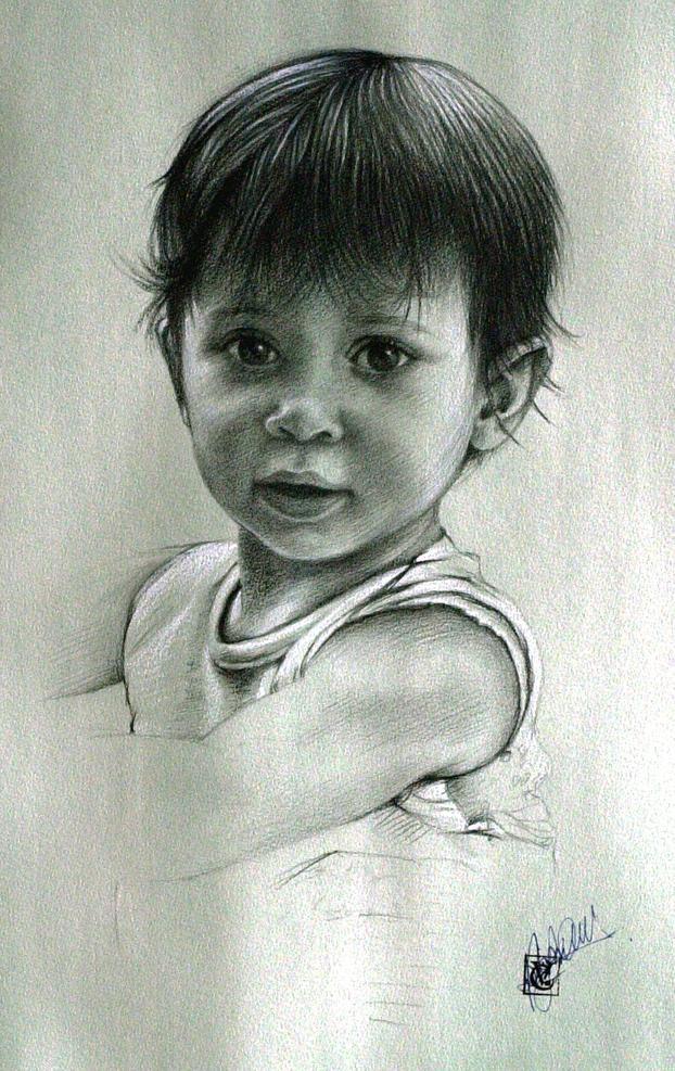 Popolare i ritratti di bambini | Bassorilievi - Quadri ad olio - Affreschi  BQ77